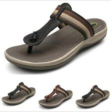 Summer Men's Clip Toe Thong Sandals Casual Outdoor Beach Walking Slippers Mules