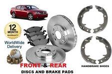 für Dodge Avenger 9/2007> vorne & hinten Bremsscheiben & Belag Set & Hand