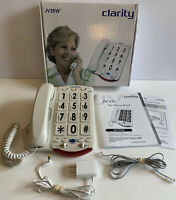 Clarity Amplified Telephone with Talk Back Numbers Names White Big Buttons JV35W