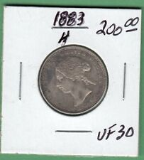 1883-H Canadian 25 Cents Silver Coin - VF-30