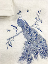 High End Embroidered Turkish Cotton Towel - Peacock Design - Multiple Colors