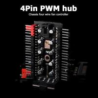 1 to 10 4 Pin PWM Cooler Fan HUB Splitter Extension PC Speed Controller Adapter