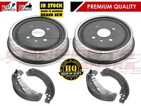 FOR VAUXHALL ASTRA G 1.4 1.6 1.7 1998-2004 REAR BRAKE SHOES & BRAKE DRUMS