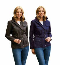 Cotton Patternless Quilted Coats & Jackets for Women