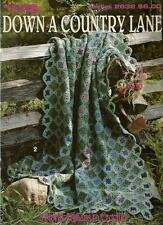 Down a Country Lane Floral Afghans Crochet Instruction Patterns LA2632 NEW