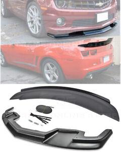 For 10-13 Camaro SS | ZL1 Package Style Front Lip Splitter & Rear Truck Spoiler