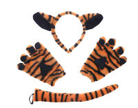 Tiger Fancy Dress Costume Ears Tail and Gloves Animal Costume Halloween