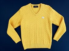 Men's Monte Carlo Collection Sweater Lambs Wool Yellow Size 40