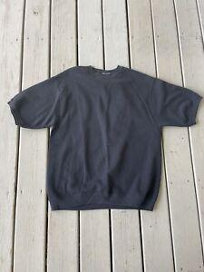 Vintage Lee Men's Crew Neck Short sleeve Sweatshirt Top Black Size M Medium