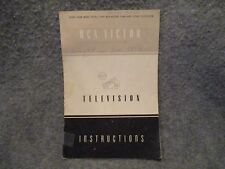 Vintage RCA Victor Television Instructions Booklet Brochure Manual 32412-1
