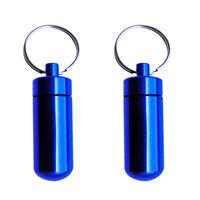 2x Wasserdichte Kapsel Pillendose Tablettendose Pillenbox Schlüsselanhänger NEU