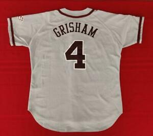 John Grisham? Mississippi State Bulldogs Game Issue Road Baseball Jersey Size XL