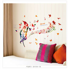 NEW Bird Musical Note Removable Home Living Room Wall Sticker Decals Decor Mural