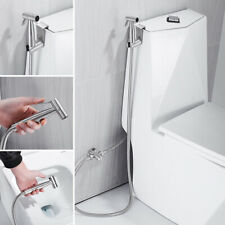 Muslim Shattaf Toilet Seat Bidet Douche Spray Kit Shower Sprayer Set Hose Chrome