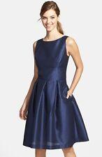 NWT! $164 Alfred Sung Dupioni Fit & Flare Dress | Size 6 | B0105