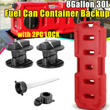 30l 8 Gallon Fuel Can Gas Tank Containers Backup Storage With Lock For Suv Offroad