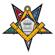 """Past Patron Order of the Eastern Star  2"""" Reflective Decal Sticker"""