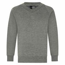 "Zeco Child Adult Unisex V-Neck School Sweatshirt Plain (Chest 24""-46'')"