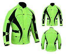 Warrior Motorcycle Motorbike HIVIZ CE Armour Waterproof Cordura Bikers Jacket
