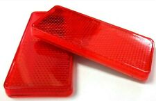 Red Reflectors. Self adhesive. 99mm x 44mm. Trailer. 1 Pair. *Top Quality!