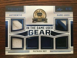 20-21 IN THE GAME USED HOCKEY GEAR PATCH JERSEY AVALANCHE - PATRICK ROY /30