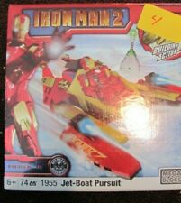 Mega Bloks IRON MAN 2 Series  JET-BOAT PURSUIT  #1955    NRFB  74 pc