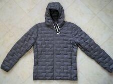 New Men's adidas Terrex Light Down Hooded Lightweight Grey Jacket Size L