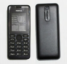 black cell mobile Housing Cover Case Fascia skin Faceplate for Nokia 108  black