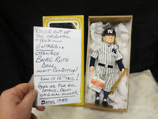 1985 New York Yankees BABE RUTH Effanbee Doll NEW  never removed from  BOX