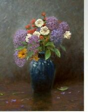 Thomas Kinkade Lilac Bouquet Limited Edition  97/2002 20x13 Collectible Art