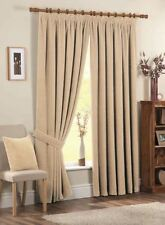 Chenille Solid Pattern Curtains with Pencil Pleat