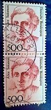 FRANCOBOLLO Germania - 2 Alice Solomon 1872-1948 500 PF FRANCOBOLLI-GRATIS P&P