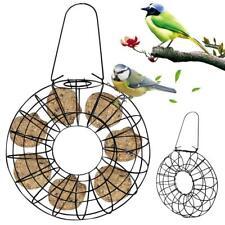 Round Wild Bird Food Fat Cake, Suet Block Holder Hanging Bird Feeders