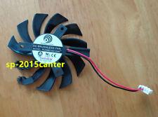 For 75mm ATI GTX460 GTX560 GTX580 R6870 Fan PLD08010S12HH 2wire 12V 0.35A #SP62