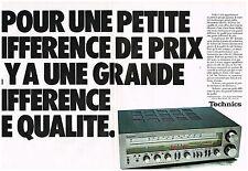 PUBLICITE  1978   TECHNICS   hi-fi   l'ampli tuner ( 2  pages)