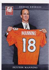 Peyton Manning #18 JERSEY DENVER BRONCOS Football Card 2012 Elite NFL MVP!