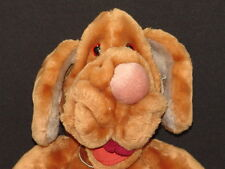 VINTAGE 1981 GANZ BROS HERITAGE PLUSH BROWN BOY WRINKLES PUPPY DOG PUPPET PLUSH