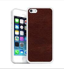 Backhug Slim Case for Apple iPhone 5 5s, Silver Frame & Vintage Old Leather
