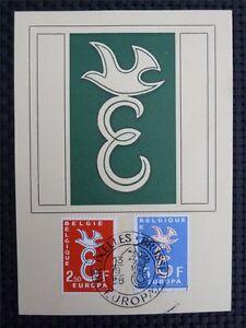 BELGIEN MK 1958 EUROPA CEPT TAUBE PIGEON MAXIMUMKARTE MAXIMUM CARD MC CM c3421