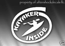 Kayak Inside Sticker Kayaker