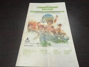 Pele's Championship Soccer Atari 2600 Manual