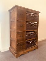 Brown Wicker Drawers With Lots Of Storage Chest Of Drawers Storage Unit Bedroom
