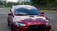 Coppia Fari Fanali TUNING LED DRL Mitsubishi LANCER X LTI EVO Freccia Dinamica