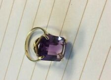 Birks vintage 10k and amethyst coctail ring