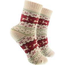 cosey Damen Socken - Rentier rot (33 - 42) 1 Paar - Baumwolle atmungsaktiv weich