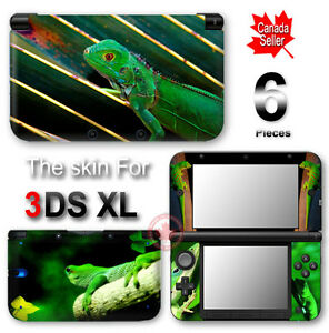 Cool Green Lizard SKIN VINYL STICKER DECAL COVER for Nintendo 3DS XL