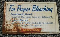 Vintage Original MAYTAG Commercial Washer Laundromat Metal Sign w/ Instructions