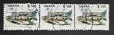 Ghana: SG1643 100c fine used strip of 3 (Cape Coast Castle)