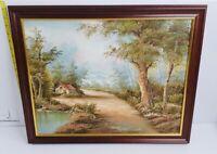 Vintage Framed Landscape Oil Painting Irene Cafieri Artwork Canvas