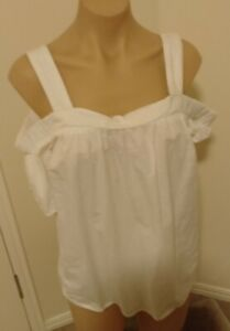 Kmart NOW Ladies Sz 14 Summer Top Cotton Thick Straps Off The Shoulder Sleeves